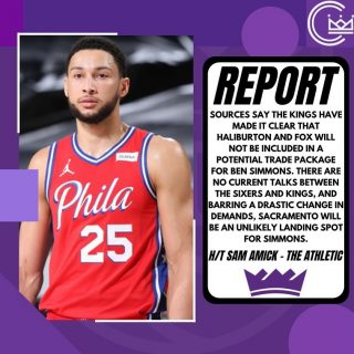 Without including Fox or Haliburton in a package, it's unlikely Simmons will be traded to Sacramento. Interested to see if anything changes regarding the Sixers' demands in the coming days as Simmons stock seems to keep falling.  #sacramento #kings #sacramentoproud #sacramentokings #sactown #nba #basketball #sports #sportsblog #blogger #blog #nbabasketball #bensimmons #philly #philadelphia #sixers #76ers #philadelphia76ers #news