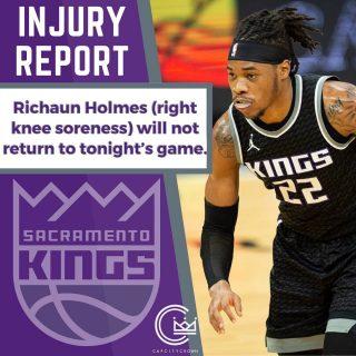 No more @rich_holmes22 for tonight's game  #sacramento #kings #sacramentoproud #sacramentokings #sactown #nba #basketball #sports #sportsblog #blogger #blog #nbabasketball #news