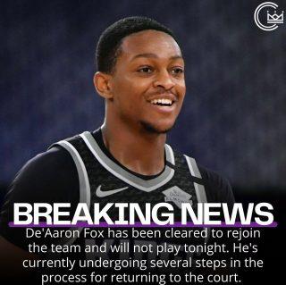 Good news for the @sacramentokings   #sacramento #kings #sacramentoproud #sacramentokings #sactown #nba #basketball #sports #sportsblog #blogger #blog #nbabasketball #news #deaaronfox
