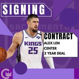 Alex Len is coming back to Sacramento on a two year deal.  #sacramento #kings #sacramentoproud #sacramentokings #sactown #nba #basketball #sports #sportsblog #blogger #blog #nbabasketball #news