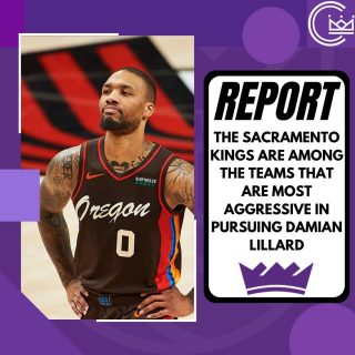Surprised to hear the Kings are aggressive in pursuing Damian Lillard. I'd be amazed if the Blazers would take an offer seriously without Fox or Haliburton included in the package plus multiple draft picks.  Who would you give up for Lillard?  #sacramento #kings #sacramentoproud #sacramentokings #sactown #nba #basketball #sports #sportsblog #blogger #blog #nbabasketball #damianlillard #portland #trailblazers #portlandtrailblazers #ripcity #news
