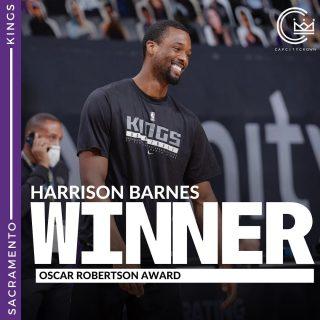 Congratulations to @hbarnes for winning the Oscar Robertson Award for on-court, community excellence  #sacramento #kings #sacramentoproud #sacramentokings #sactown #nba #basketball #sports #sportsblog #blogger #blog #nbabasketball #news