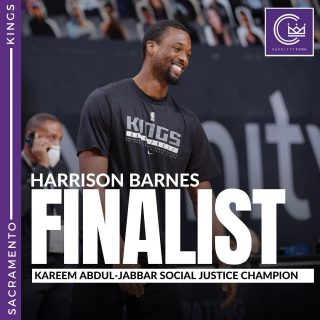 Congratulations to @hbarnes on being a finalist for the inaugural Kareem Abdul-Jabbar Social Justice Chapion Award. He's a professional on and off the court and makes a real impact in communities. Thank you for your work, Harrison.  #sacramento #kings #sacramentoproud #sacramentokings #sactown #nba #basketball #sports #sportsblog #blogger #blog #nbabasketball #news