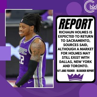 Looks like Holmes could be staying in Sacramento  #sacramento #kings #sacramentoproud #sacramentokings #sactown #nba #basketball #sports #sportsblog #blogger #blog #nbabasketball #news