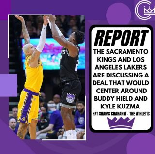 A lot of people hate on Kuz but I was saying the Kings should have traded Bogi for him when they had the chance. He would be a solid addition and he played his best basketball under Luke Walton. Wouldn't be mad at all.  #sacramento #kings #sacramentoproud #sacramentokings #sactown #nba #basketball #sports #sportsblog #blogger #blog #nbabasketball #losangeles #la #lakakers #lakers #losangeleslakers #kylekuzma #buddyhield #nbatrade #trade #news