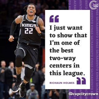 @rich_holmes22 is ready to prove why he's one of the best centers in this league 😤💪  #sacramento #kings #sacramentoproud #sacramentokings #sactown #nba #basketball #sports #sportsblog #blogger #blog #nbabasketball #richaunholmes #news