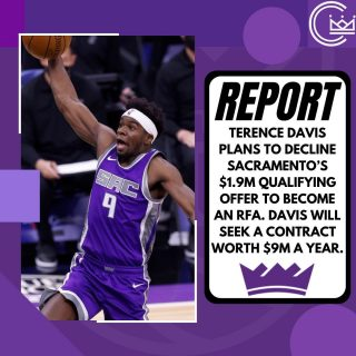 Terence Davis will decline the Kings' qualifying offer to test the restricted free agent market. He is looking for a contract in the range of $9M a year. Davis was great off the bench for Sacramento since they acquired him at the trade deadline.   Would you like to see Davis back in Sacramento?  #sacramento #kings #sacramentoproud #sacramentokings #sactown #nba #basketball #sports #sportsblog #blogger #blog #nbabasketball #news