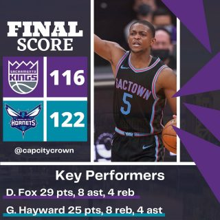 The @sacramentokings collapse in the fourth quarter again against the @hornets and drop their second straight game  #sacramento #kings #sacramentoproud #sacramentokings #sactown #nba #basketball #sports #sportsblog #blogger #blog #nbabasketball #charlotte #hornets #charlottenc #charlottehornets #nbagames #nbagame #gameday #news