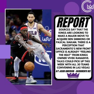 Sources tell the Sacramento Bee that the Kings are looking to make a major move with eyes on some of the biggest names in the trade market. More notably Pascal Siakam and Ben Simmons are in the Kings' front office line of sight.   A source says a trade for Siakam is possible but not likely. Although a trade package for Siakam would most likely include Hield, Bagley, and one or more future first round picks.  Stay tuned Sacramento, looks like something big is happening on the horizon.  #sacramento #kings #sacramentoproud #sacramentokings #sactown #nba #basketball #sports #sportsblog #blogger #blog #nbabasketball #news
