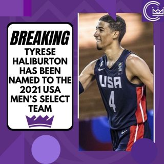 Congratulations to Tyrese Haliburton for being named to the 2021 USA Men's Select Team!  #sacramento #kings #sacramentoproud #sacramentokings #sactown #nba #basketball #sports #sportsblog #blogger #blog #nbabasketball #tyresehaliburton #usa #usabasketball #news
