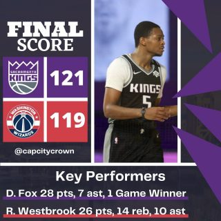@swipathefox with the game winner to give the @sacramentokings the win over the @washwizards   #sacramento #kings #sacramentoproud #sacramentokings #sactown #nba #basketball #sports #sportsblog #blogger #blog #nbabasketball #washingtondc #washington #dc #washingtonwizards #wizards #news